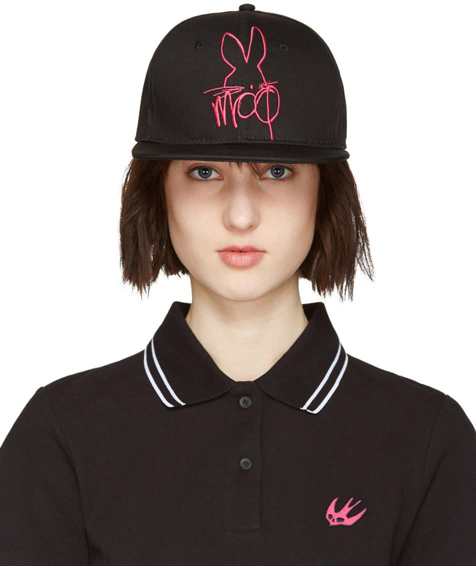 Mcq Alexander Mcqueen Black and Pink Logo Cap