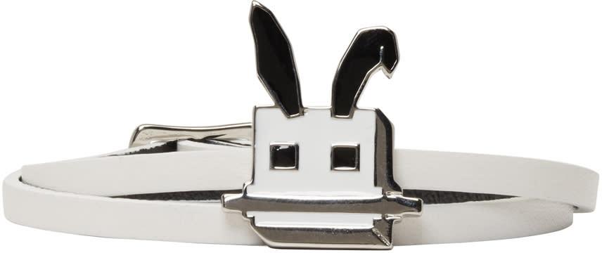 Mcq Alexander Mcqueen White Electro Bunny Mini Wrap Bracelet