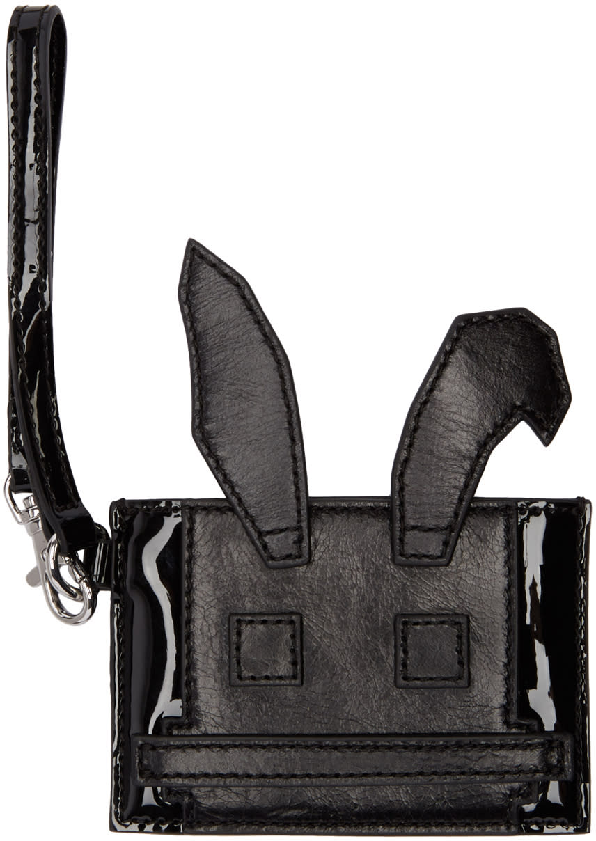 Mcq Alexander Mcqueen Black Electro Bunny Card Holder
