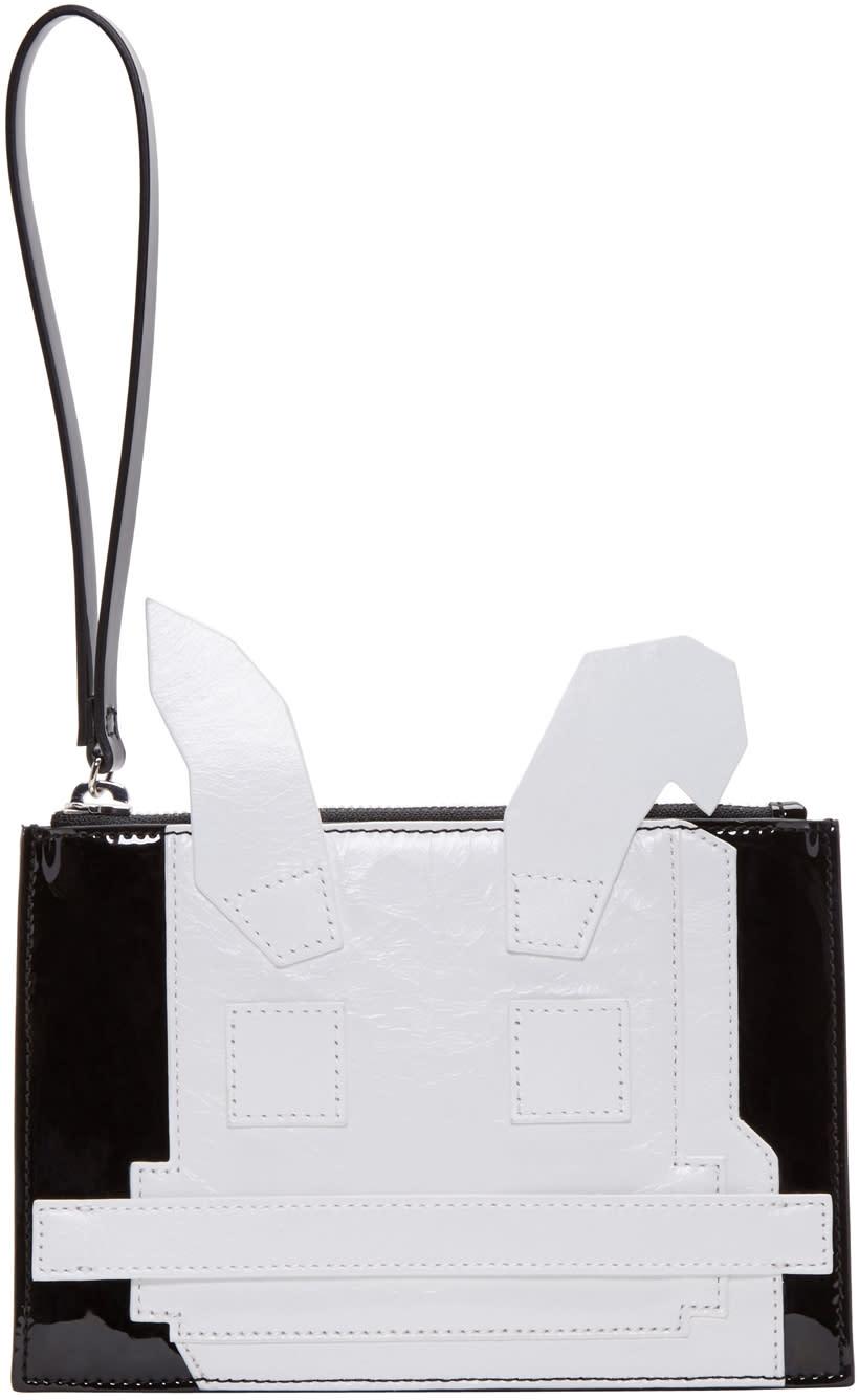 Mcq Alexander Mcqueen Black and White Electro Bunny Pouch