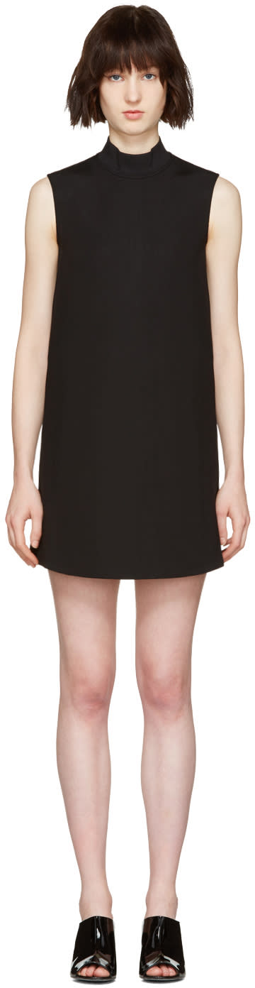 Mcq Alexander Mcqueen Black High Neck Dress
