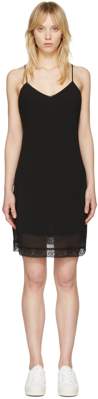 Mcq Alexander Mcqueen Black Slip Dress