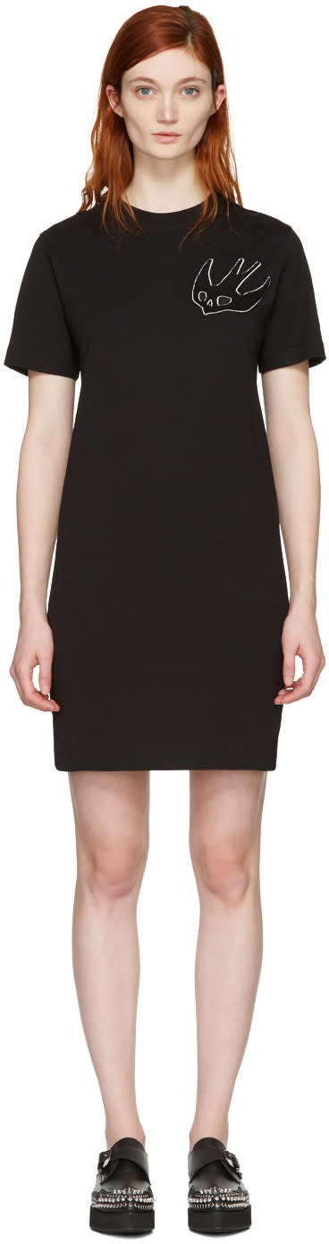 Mcq Alexander Mcqueen Black Swallow T-shirt Dress