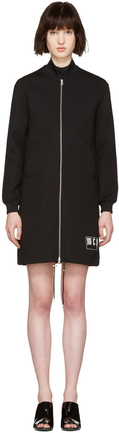 Mcq Alexander Mcqueen Black Long Bomber Jacket