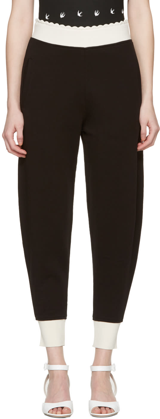 Mcq Alexander Mcqueen Black Scalloped Lounge Pants