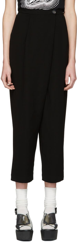 Mcq Alexander Mcqueen Black Crossover Trousers