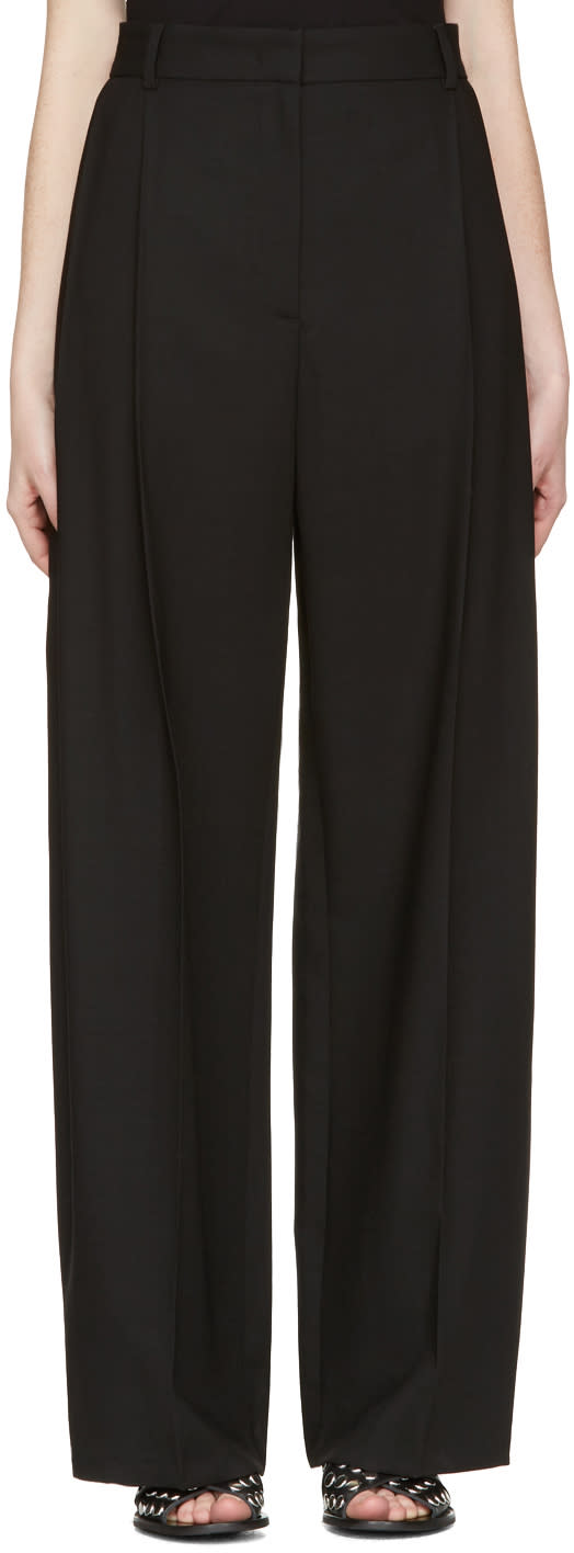 Mcq Alexander Mcqueen Black Kilt Pleat Trousers