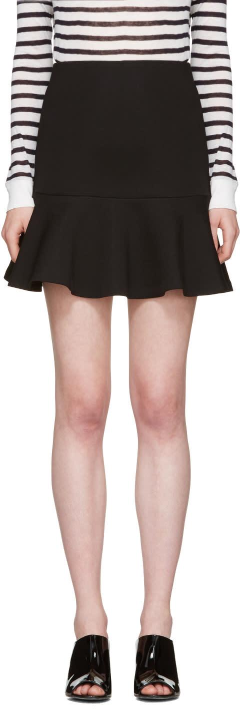 Mcq Alexander Mcqueen Black Peplum Miniskirt