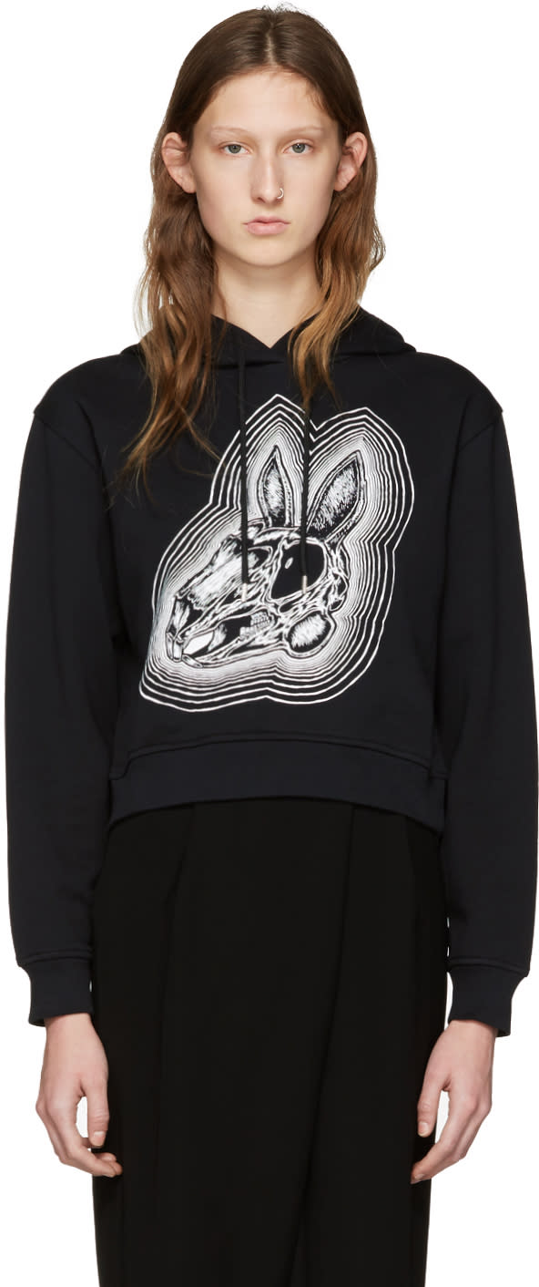 Mcq Alexander Mcqueen Black Be Here Now Hoodie