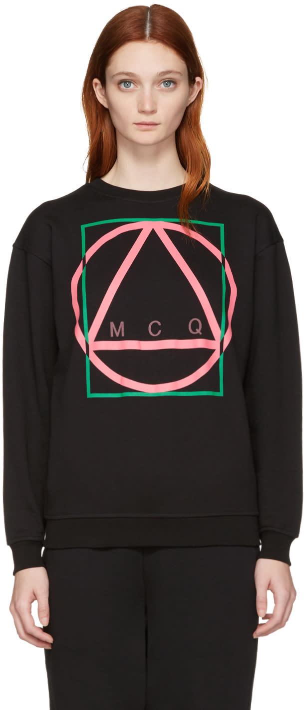 Mcq Alexander Mcqueen Black Glyph Icon Classic Pullover