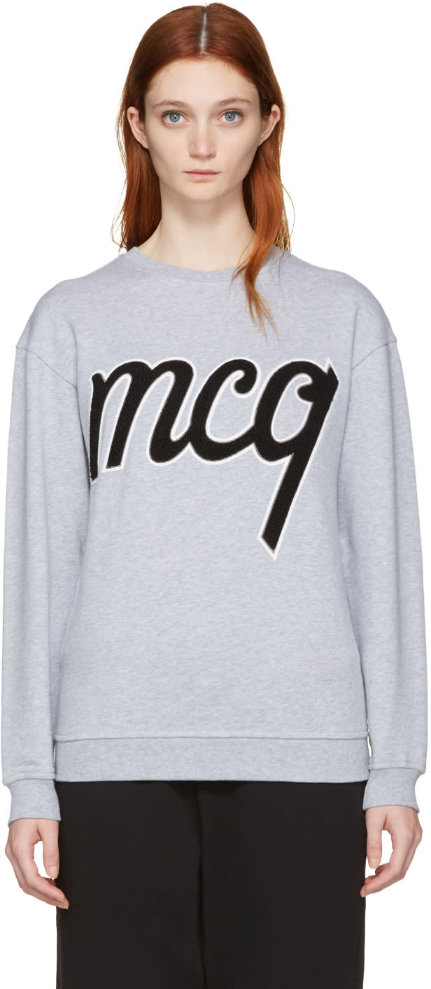 Mcq Alexander Mcqueen Grey Logo Classic Pullover