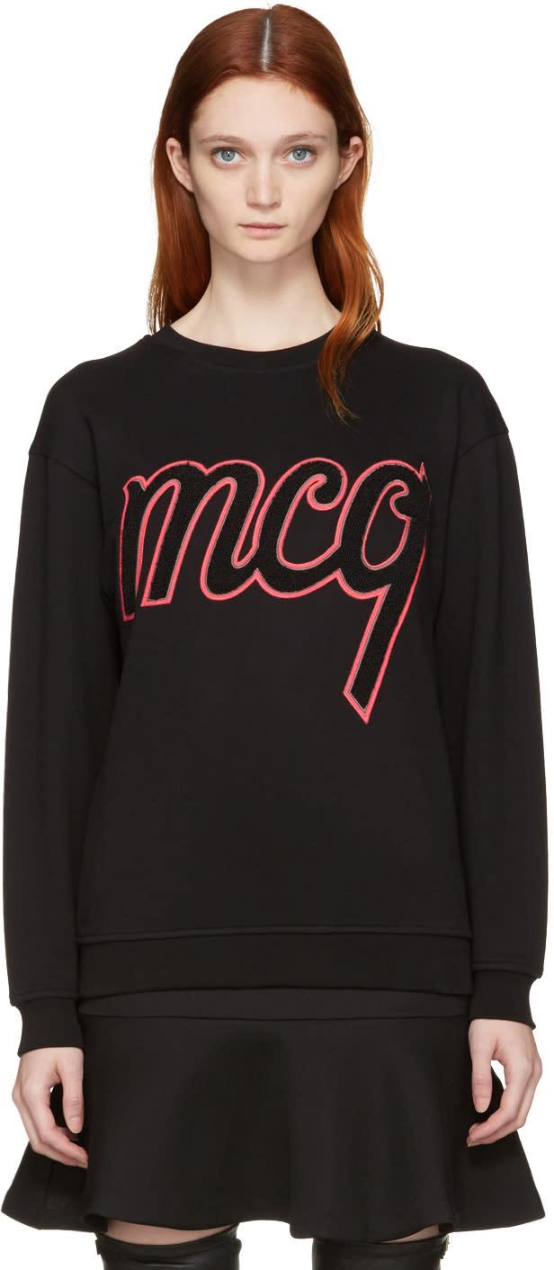 Mcq Alexander Mcqueen Black Logo Classic Pullover