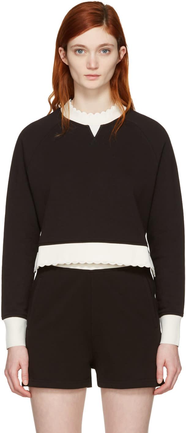 Mcq Alexander Mcqueen Black Contrast Raglan Pullover
