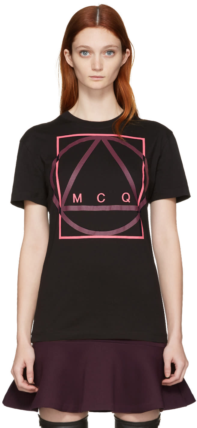 Mcq Alexander Mcqueen Black Glyph Icon Classic T-shirt