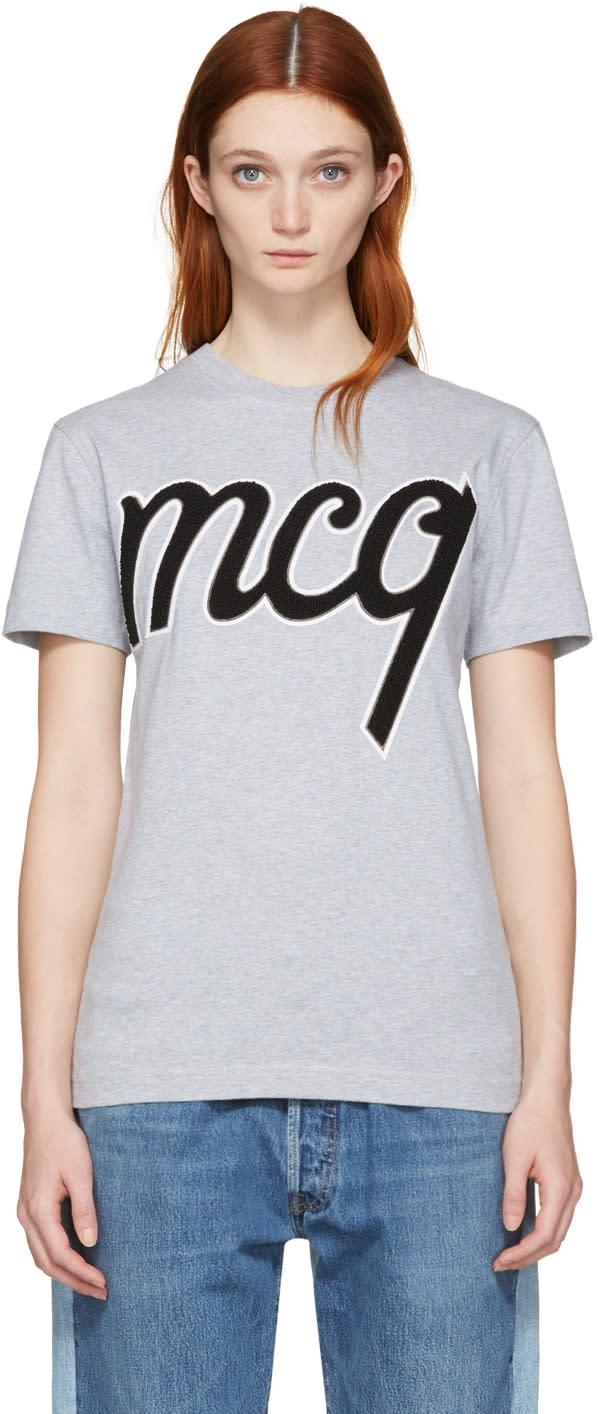 Mcq Alexander Mcqueen Grey Logo Classic T-shirt