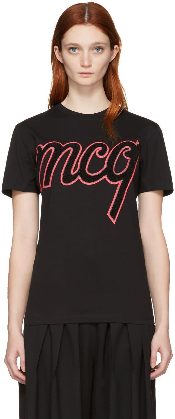 Mcq Alexander Mcqueen Black Classic Logo T-shirt