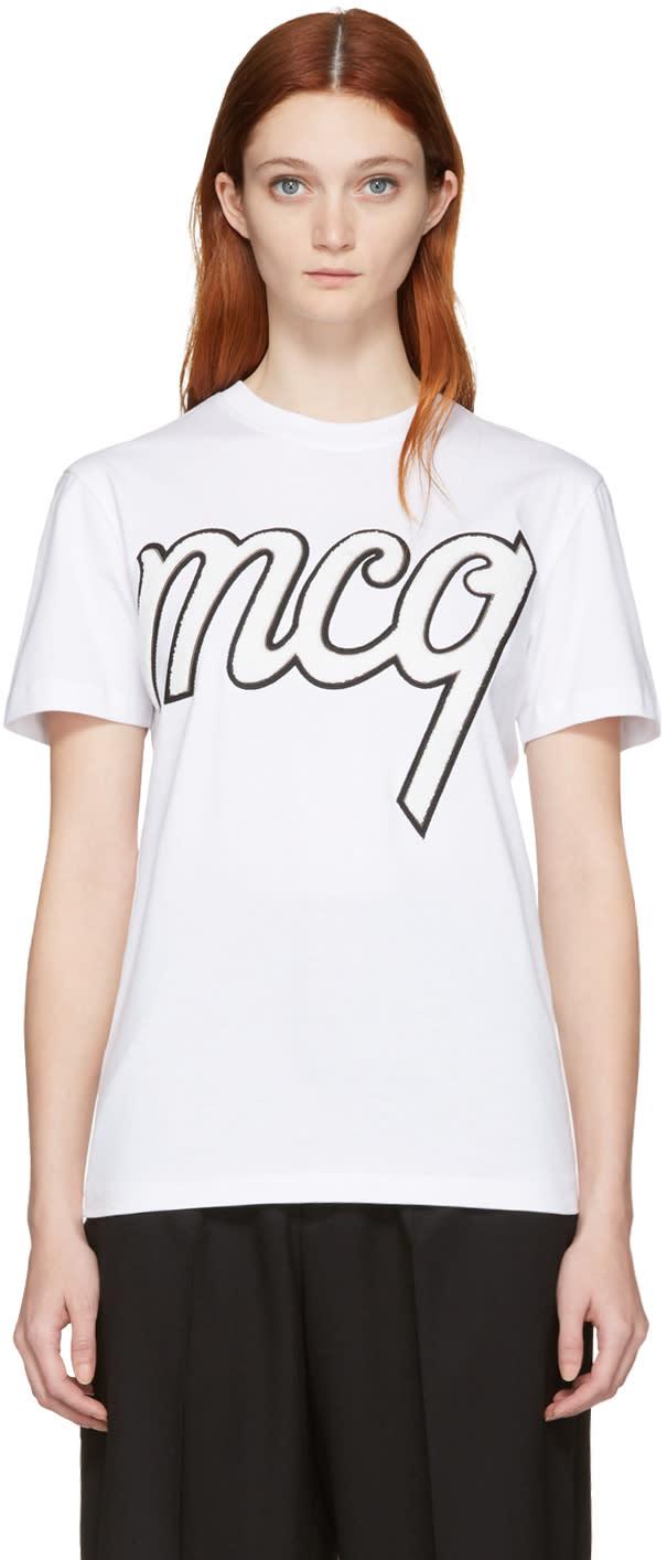 Mcq Alexander Mcqueen White Classic Logo T-shirt