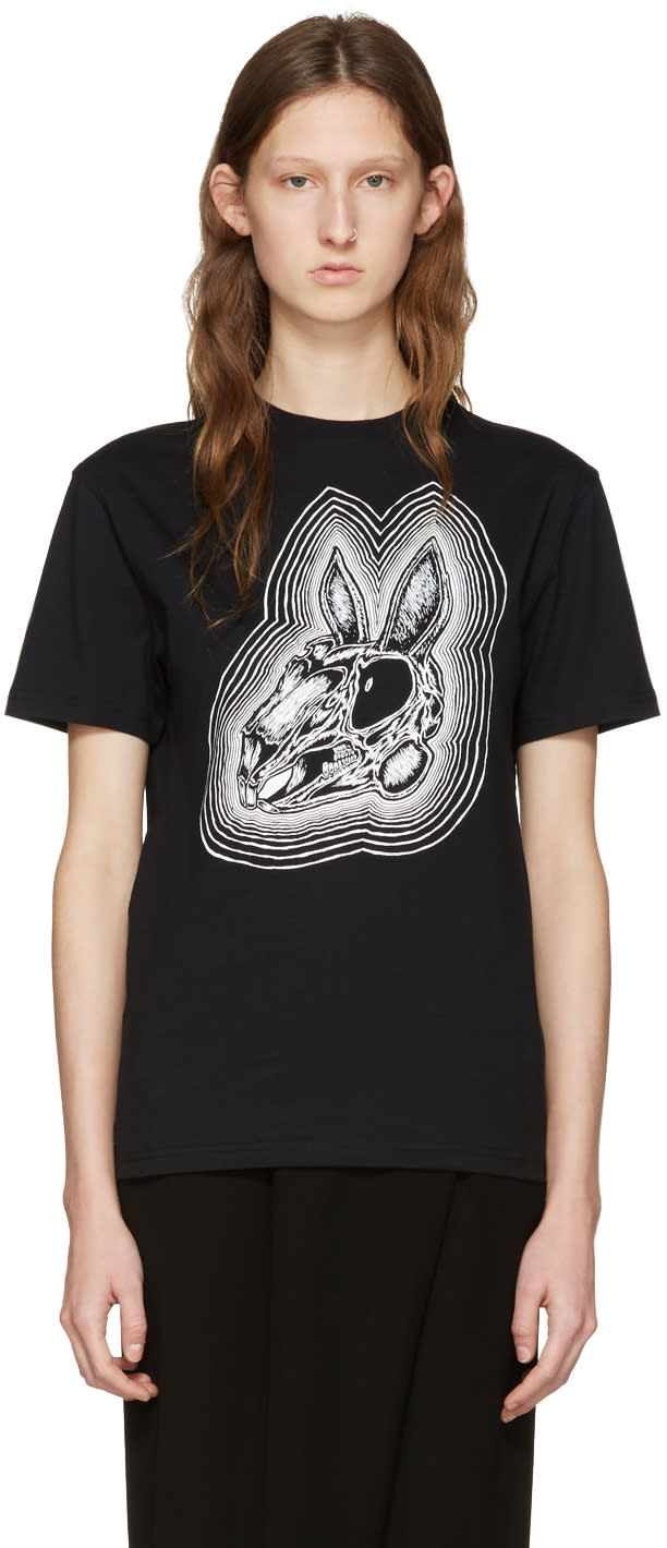 Mcq Alexander Mcqueen Black Be Here Now T-shirt