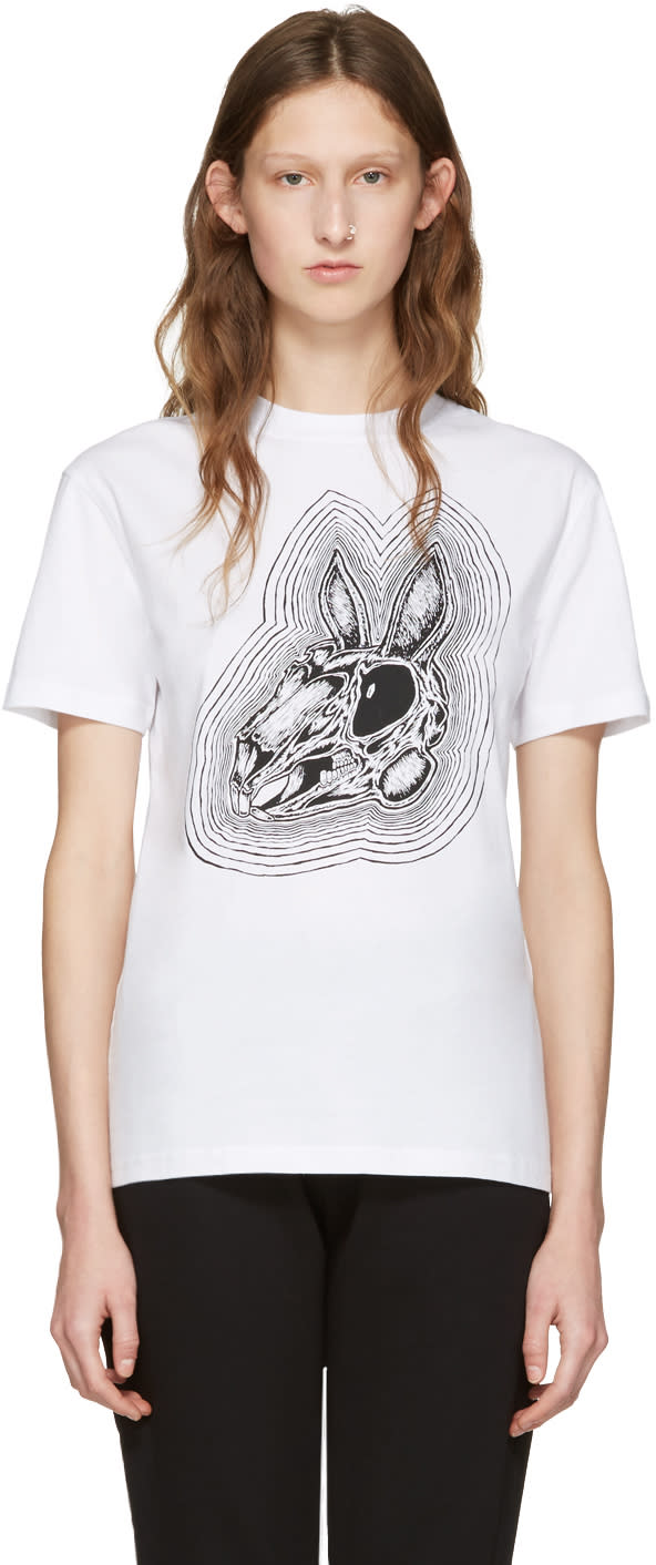 Mcq Alexander Mcqueen White Be Here Now T-shirt