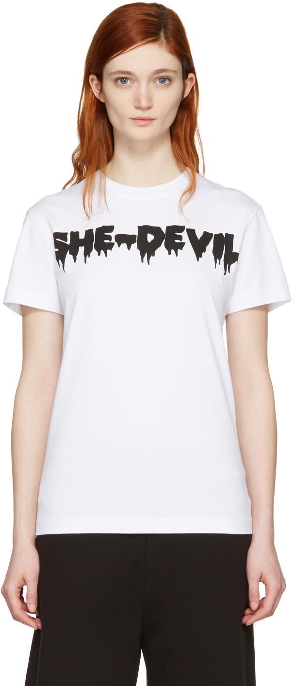 Mcq Alexander Mcqueen White she-devil T-shirt