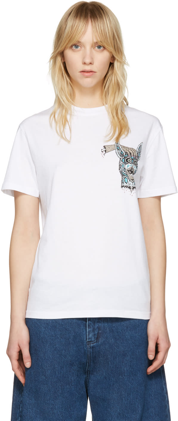 Mcq Alexander Mcqueen White bring Me The Head Of The Bunny T-shirt