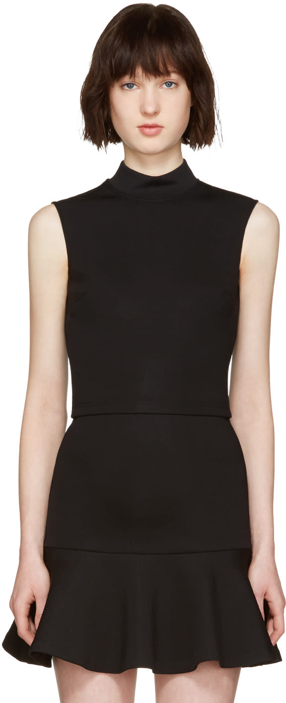 Mcq Alexander Mcqueen Black High Neck Top