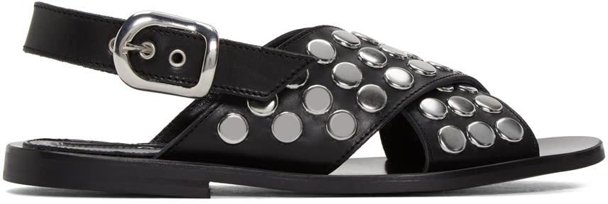 Mcq Alexander Mcqueen Black Studded Sundance Sandals