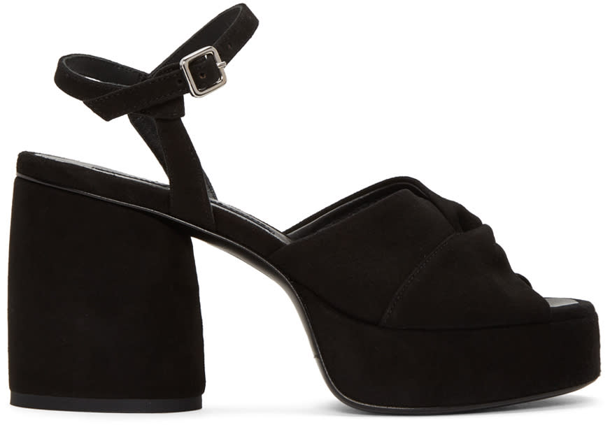 Mcq Alexander Mcqueen Black Suede Arizona Sandals
