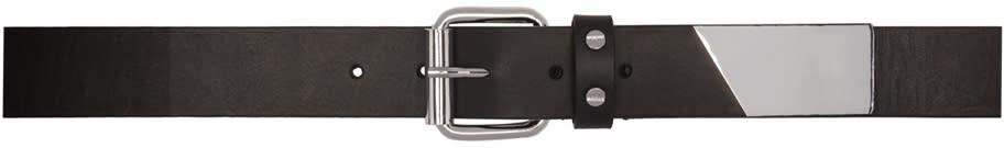 Mcq Alexander Mcqueen Black Roller Buckle Belt