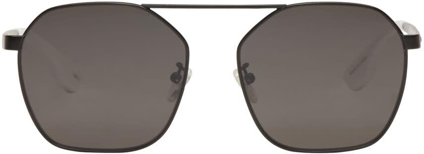 Mcq Alexander Mcqueen Black Aviator Sunglasses
