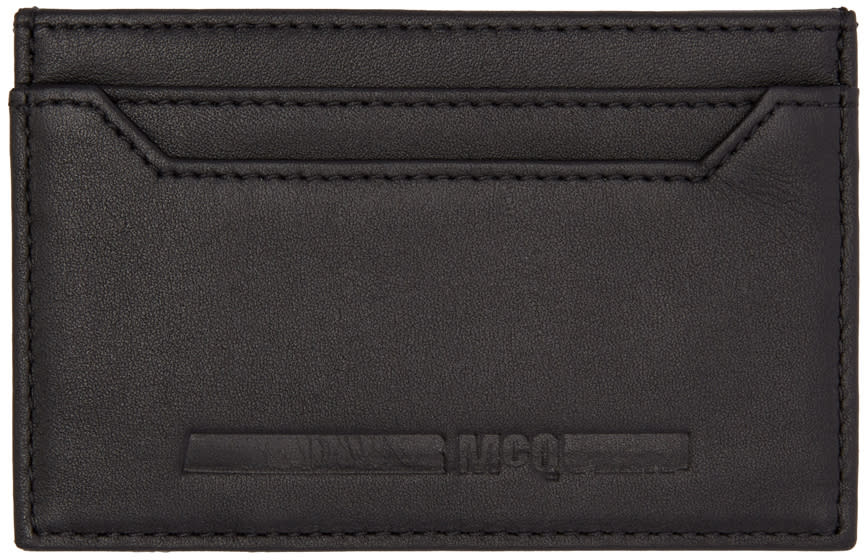 Mcq Alexander Mcqueen Black Logo Card Holder