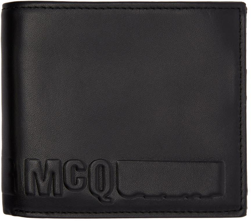 Mcq Alexander Mcqueen Black Fold Logo Wallet