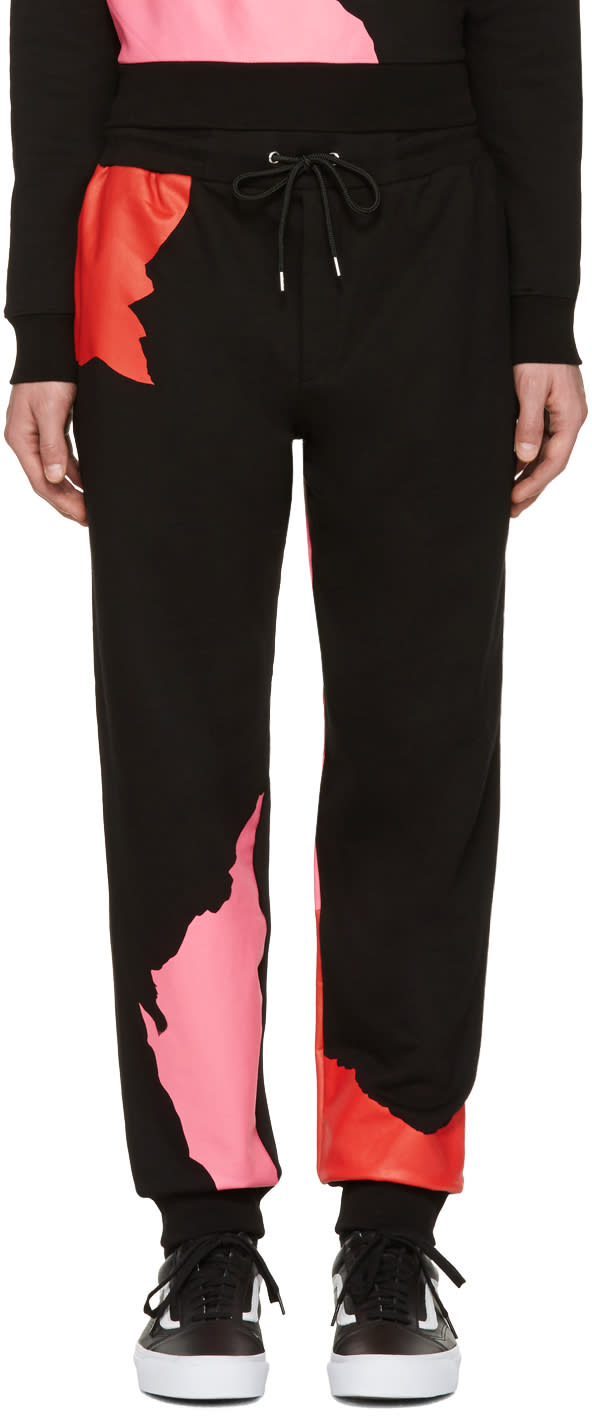 Mcq Alexander Mcqueen Black Abstract Icon Dart Lounge Pants