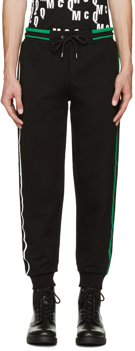 Mcq Alexander Mcqueen Black Striped Lounge Pants
