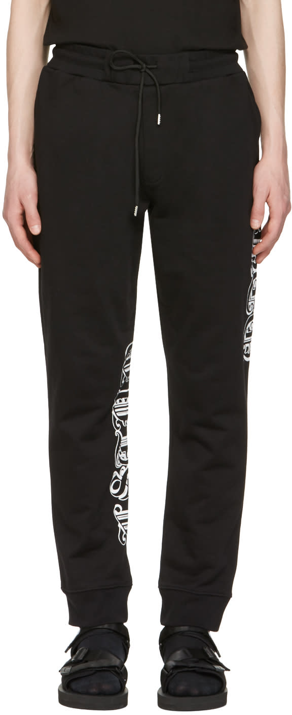 Mcq Alexander Mcqueen Black Goth Tattoo Lounge Pants