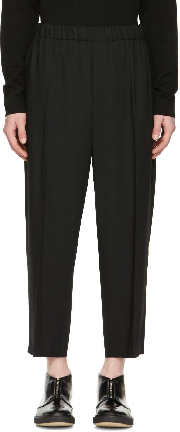 Mcq Alexander Mcqueen Black Cropped Neukoeln Trousers