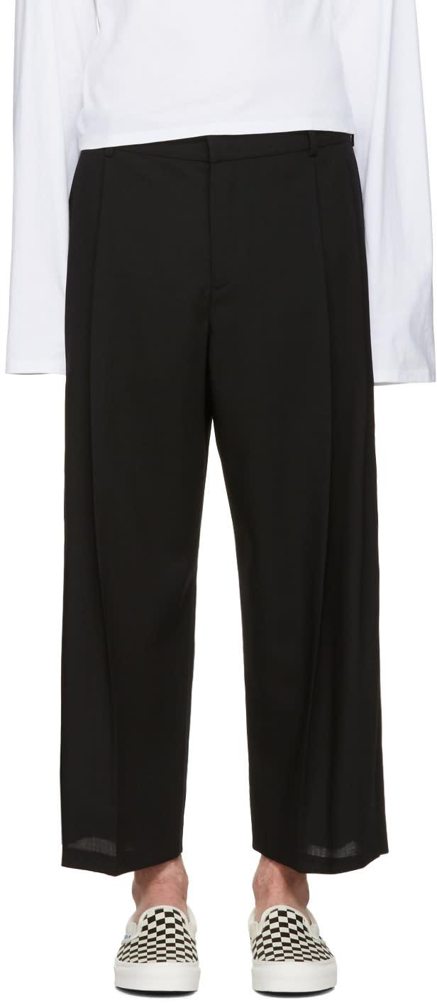 Mcq Alexander Mcqueen Black Kilt Trousers