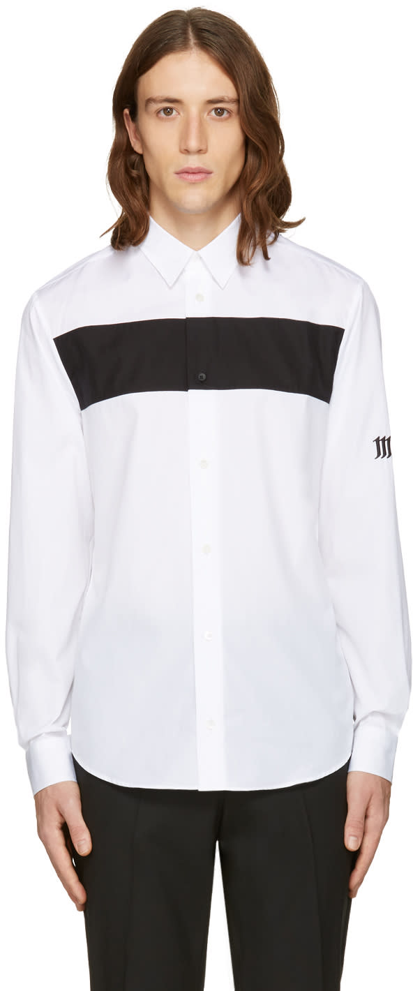 Mcq Alexander Mcqueen White Shields Pop Shirt