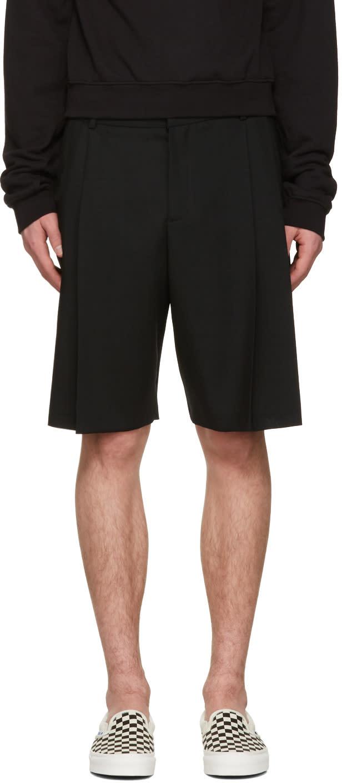 Mcq Alexander Mcqueen Black Kilt Shorts
