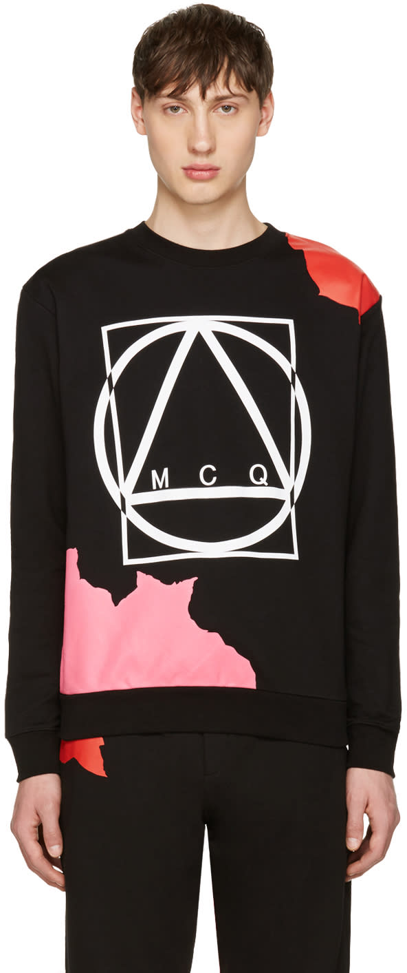 Mcq Alexander Mcqueen Black Abstract Icon Clean Pullover