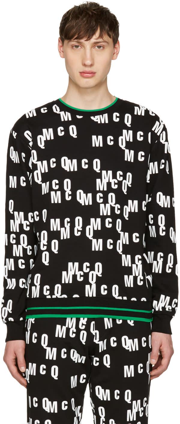 Mcq Alexander Mcqueen Black Logo Clean Pullover