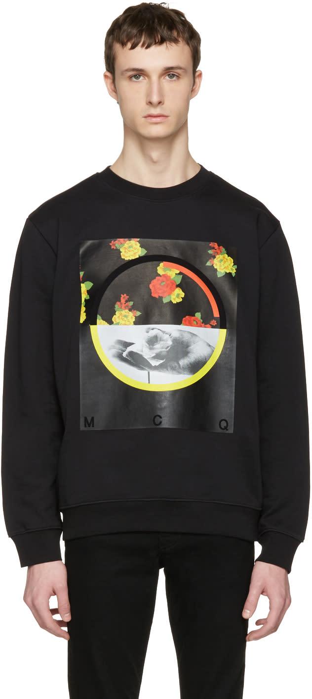 Mcq Alexander Mcqueen Black Floral Clean Pullover