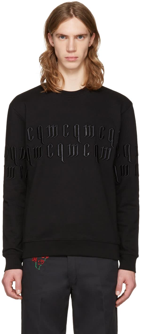 Mcq Alexander Mcqueen Black Embroidery Logo Pullover