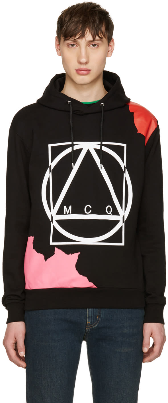 Mcq Alexander Mcqueen Black Abstract Icon Clean Hoodie