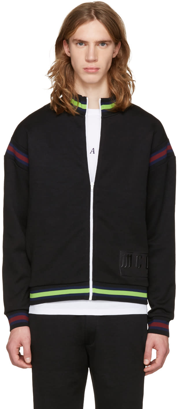 Mcq Alexander Mcqueen Black Cycle Zip-up Sweater