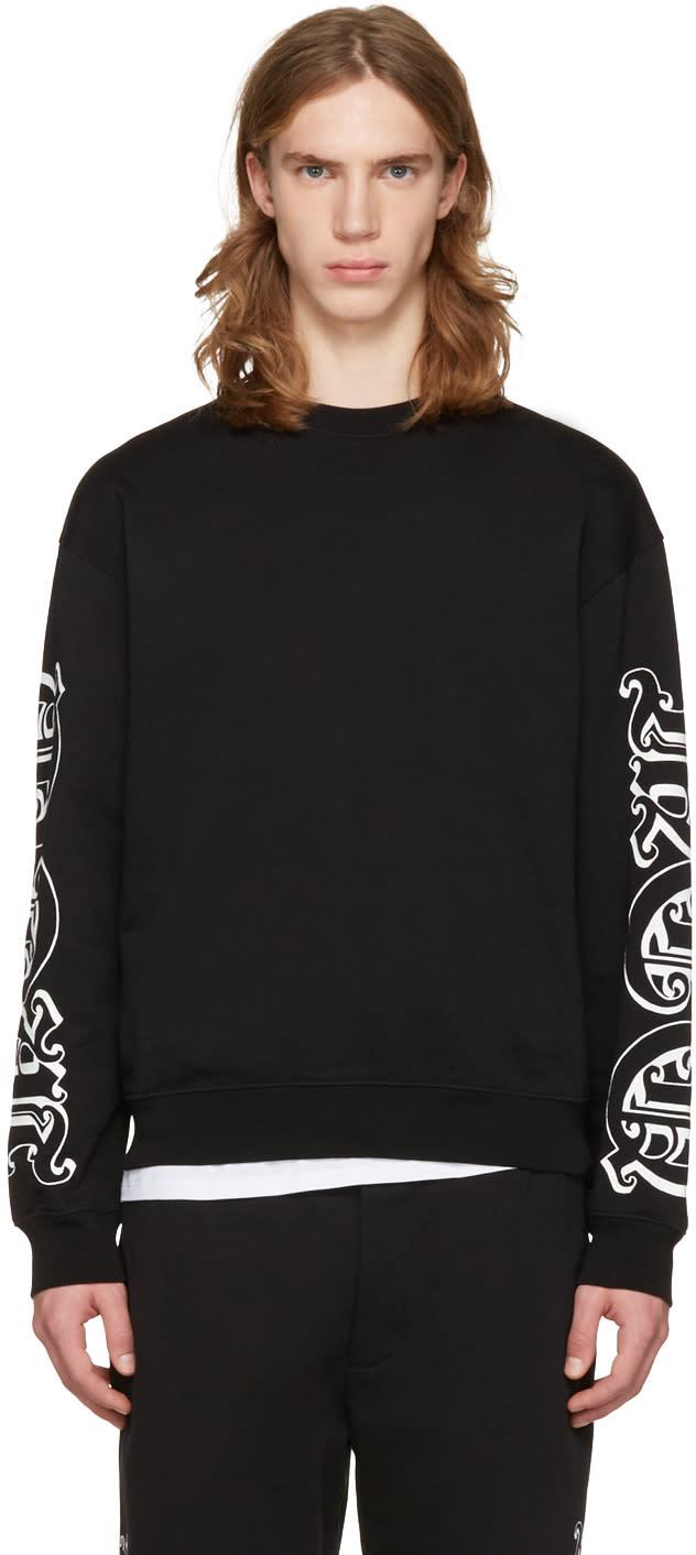 Mcq Alexander Mcqueen Black Oversized Logo Pullover