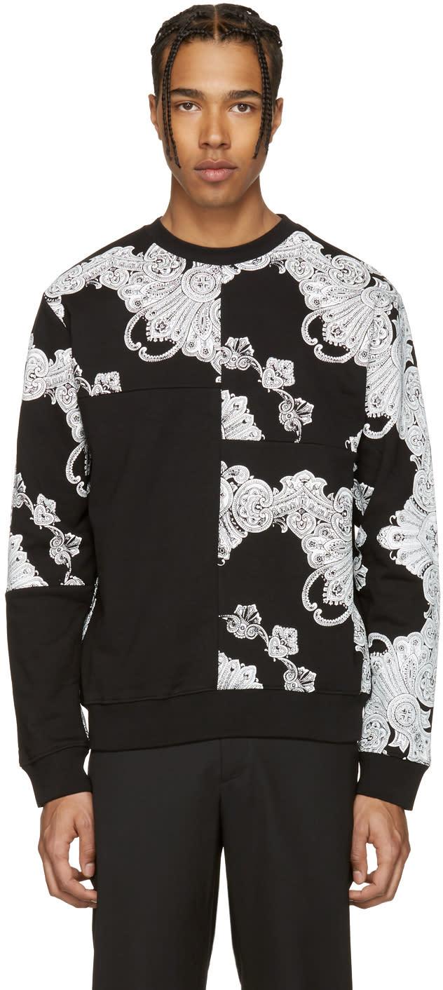 Mcq Alexander Mcqueen Black Phoenix Paisley Clean Pullover