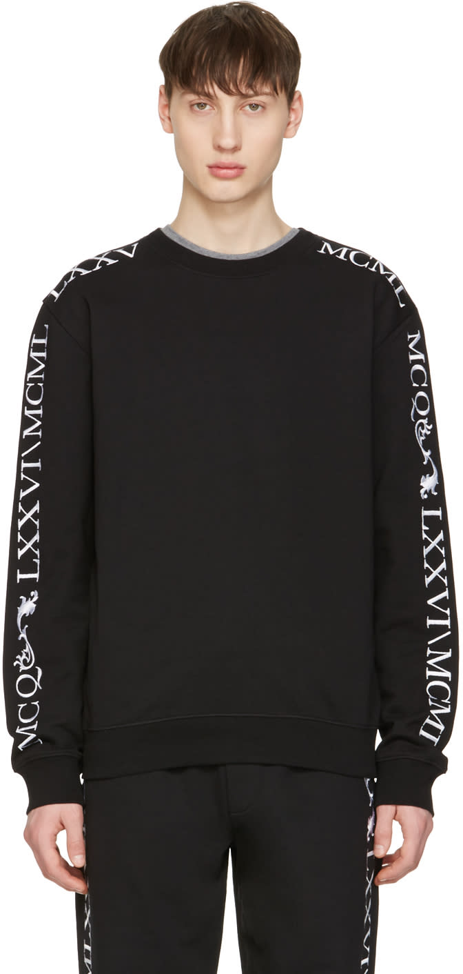 Mcq Alexander Mcqueen Black Numeral Clean Pullover