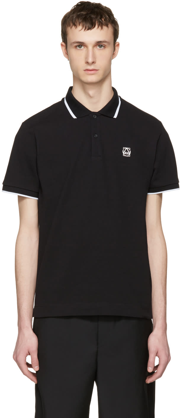 Mcq Alexander Mcqueen Black Glyph Logo Polo