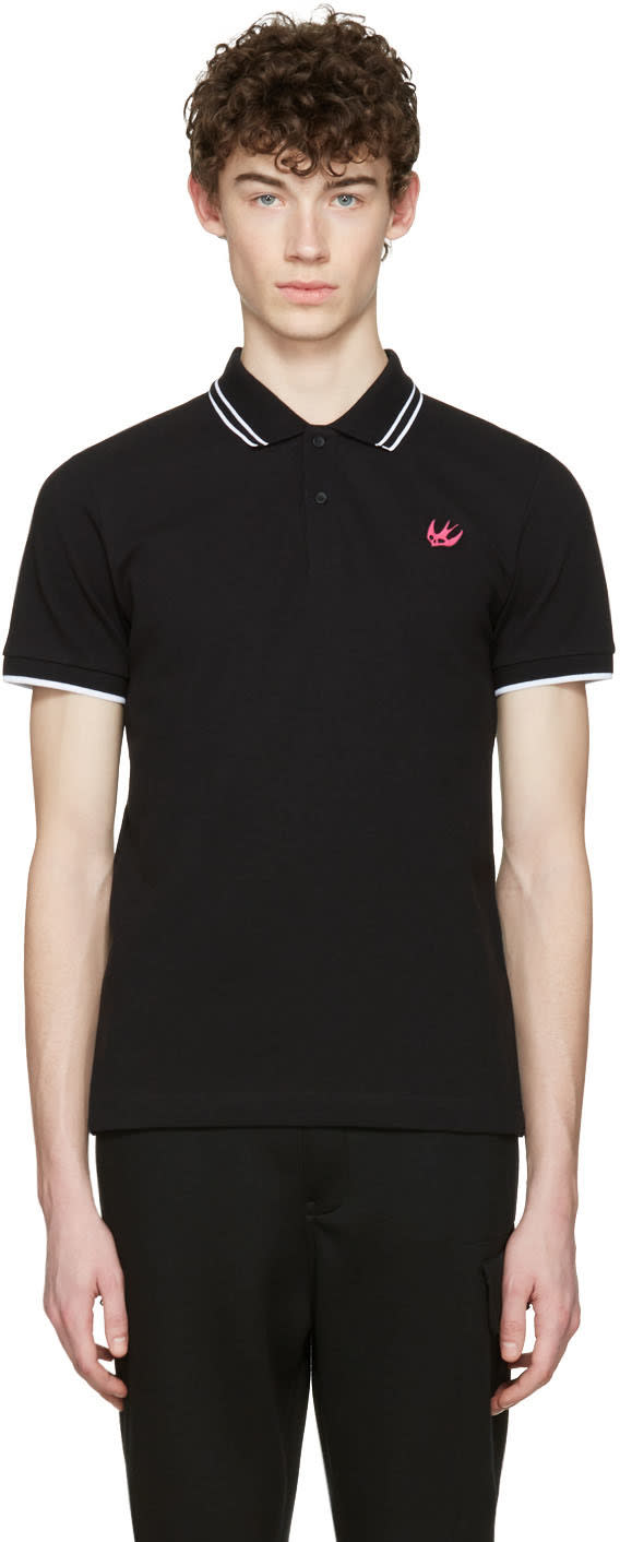 Mcq Alexander Mcqueen Black Swallow Polo